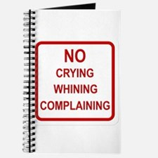No Crying Sign Journal