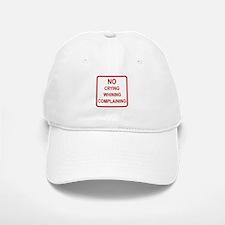 No Crying Sign Baseball Baseball Cap