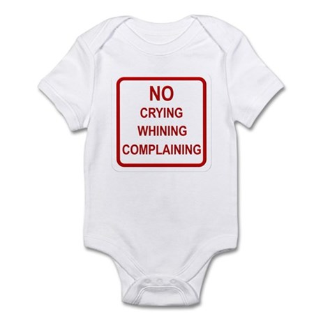 No Crying Sign Infant Bodysuit