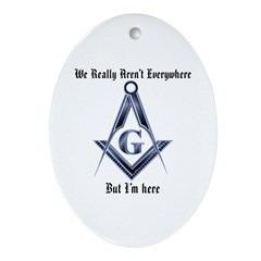 I Have arrived! Masonic Oval Ornament