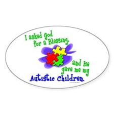 Blessing 2 (Autistic Children) Oval Decal