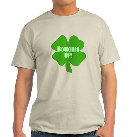 Bottoms Up This St Patricks Day Light T-Shirt