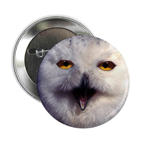 """Snow Owl 2.25"""" Button (10 pack)"""
