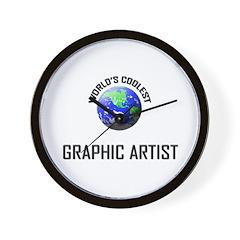 World's Coolest GRAPHIC ARTIST Wall Clock