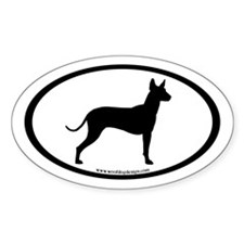 Mexican Hairless (inner border) Oval Decal