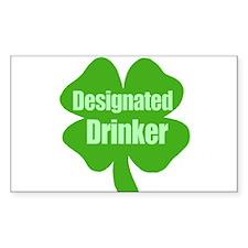Designated Drinker St Patricks Day Decal