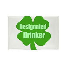 Designated Drinker St Patricks Day Rectangle Magne