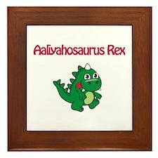 Aaliyahosaurus Rex Framed Tile