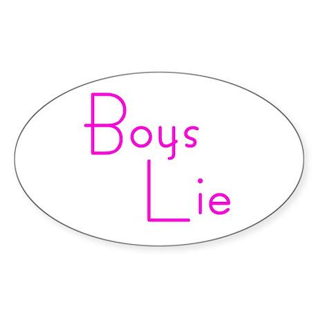 Boys lie Oval Sticker