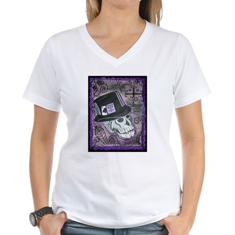 The Baron Samedi Women's V-Neck T-Shirt
