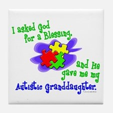 Blessing 2 (Autistic Granddaughter) Tile Coaster
