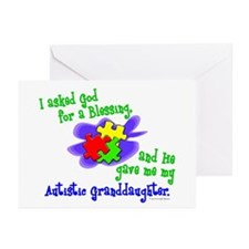 Blessing 2 (Autistic Granddaughter) Greeting Cards