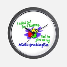 Blessing 2 (Autistic Granddaughter) Wall Clock