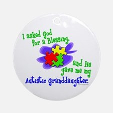 Blessing 2 (Autistic Granddaughter) Ornament (Roun