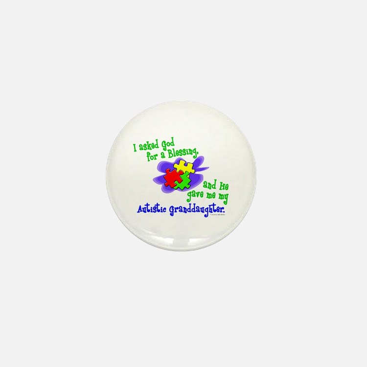 Blessing 2 (Autistic Granddaughter) Mini Button