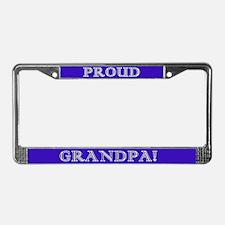 Proud Grandpa License Plate Frame