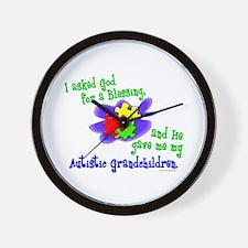 Blessing 2 (Autistic Grandchildren) Wall Clock