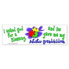 Blessing 2 (Autistic Grandchildren) Bumper Stickers