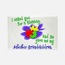 Blessing 2 (Autistic Grandchildren) Rectangle Magn