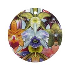 Colorful Orchids Ornament (Round)