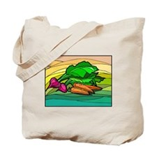 colorful Carrots & Radishes Tote Bag