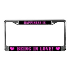 Happiness in Love License Plate Frame