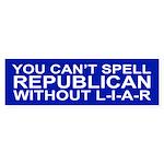 L-I-A-R Bumper Sticker
