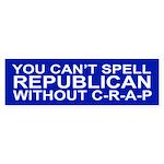 C-R-A-P Bumper Sticker