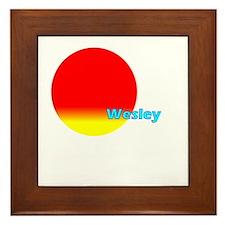 Wesley Framed Tile