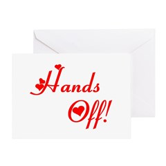 Hands off red Greeting Card