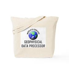 World's Coolest GEOPHYSICAL DATA PROCESSOR Tote Ba