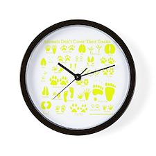 Yellow Tracks Wall Clock