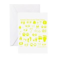 Yellow Tracks Greeting Card