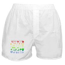 Colorful Rainbow Boxer Shorts