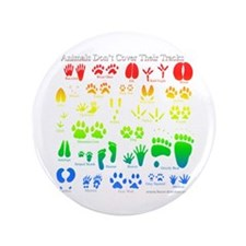 """Colorful Rainbow 3.5"""" Button"""