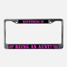 Happy Aunt License Plate Frame