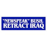 RETRACT IRAQ Bumper Sticker