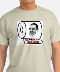 """""""Help Wipe Out Bullshit (Obama)"""" Color T-Shirt"""