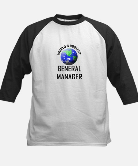World's Coolest GENERAL MANAGER Kids Baseball Jers