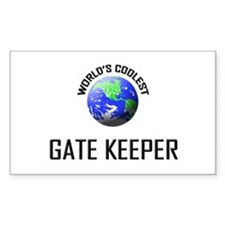 World's Coolest GATE KEEPER Rectangle Decal