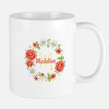 Spring Floral Wreath Monogram Mugs