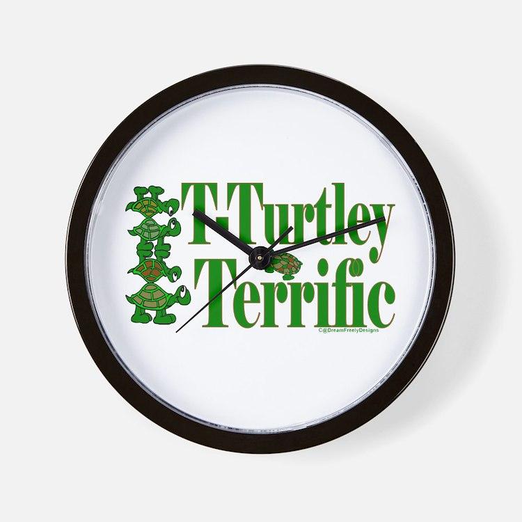 T-Turtley Terrific Wall Clock