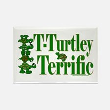 T-Turtley Terrific Rectangle Magnet (10 pack)