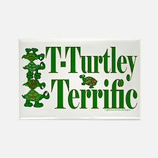 T-Turtley Terrific Rectangle Magnet