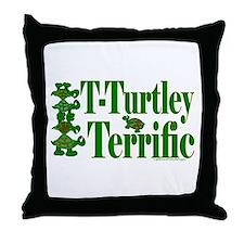 T-Turtley Terrific Throw Pillow