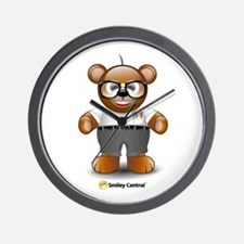 Nerdy Teddy Wall Clock