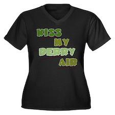 Kiss My Derry Air Women's Plus Size V-Neck Dark T-