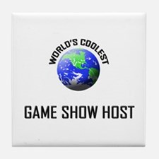 World's Coolest GAME SHOW HOST Tile Coaster