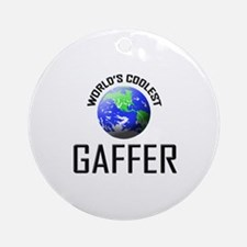 World's Coolest GAFFER Ornament (Round)