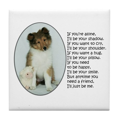 I'll Be Your Friend Tile Coaster